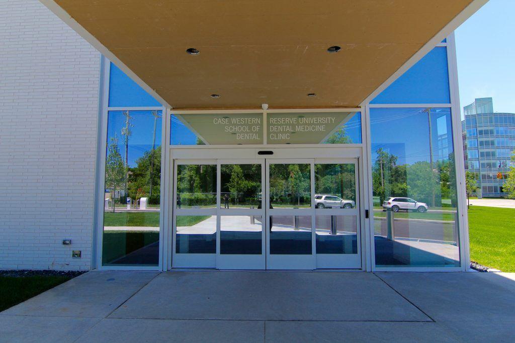 Photo of a new vestibule at a university
